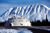 Cantwell, Denali Borough, Alaska: ' Igloo City' - giant igloo on a gas station by the Parks Highway - photo by F.Rigaud