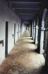 India - Andaman islands - North Andaman island - Port Blair: corridor at the cellular jail - built for Indian convicts, alias Freedom Fighters (photo by G.Frysinger)