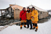 Commonwealth Bay, East Antarctica: Cape Denison - Mawson's Huts Foundation conservation team - photo by R.Eime