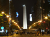 Argentina - Buenos Aires - Avenida de Mayo and obelisk - nocturnal - images of South America by M.Bergsma