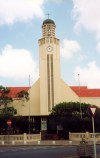 Aruba - Oranjestad: lighthouse style church (photo by M.Torres)