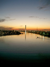 Australia - Melbourne (Victoria): Sunset on the Yarra River - Bolte Bridge II (photo by Luca Dal Bo)