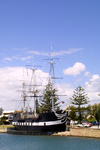 Australia - Adelaide (SA): replica of HMS Buffalo - theme restaurant at the seaside suburb of Glenelg - photo by Rod Eime