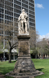 "Australia - Adelaide (SA): Statue of John McDouall Stuart at Victoria Square. Inscription reads ""John McDouall Stuart, Explorer, Adelaide to Indian Ocean 1861-2 - photo by R.Zafar"