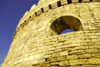 Azerbaijan - Baku: city walls - detail of defensive tower - UNESCO world heritage site - Baku old city - fortress walls first built by King Manoucher II - photo by M.Torres