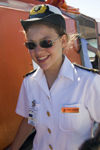 42 Bahamas - Half Moon Cay - close up of female cruise ship officer, no model relase (photo by David Smith)