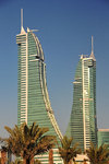 Manama, Bahrain: Bahrain Financial Harbour towers - BFH - Commercial East and Commercial West twin-towers - 53 floors and 260 meters tall - photo by M.Torres
