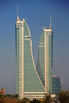 Manama, Bahrain: Bahrain Financial Harbour towers - BFH - Commercial East and Commercial West twin-towers - designed specifically for capital markets - Ahmed Janahi Architects - photo by M.Torres