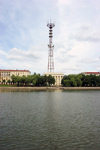 Belarus - Minsk - National Radio house and its antenna - radio mast - photo by A.Dnieprowsky
