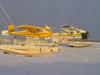 Northwest Territories, Canada: two float planes - Murphy Rebel C-GDAF, and de Havilland Beaver (DHC2) C-FGYN, Adlair Aviation - amphibious floats - photo by Air West Coast