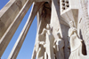 Catalonia - Barcelona: details of statues by Josep Maria Subirachs - Sagrada Familia cathedral - the Passion façade - photo by M.Bergsma
