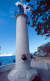 Cayman Islands - Grand Cayman - George Town - seafarers memorial adjacent to the Port Authority, a lighthouse overlooking the harbor - photo by F.Rigaud