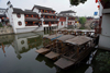 Shanghai, China: Old Qibao town - Minhang District - boats and facades - photo by Y.Xu