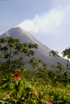 Costa Rica - Arenal Volcano smoking -andesitic stratovolcano - Alajuela Province - photo by B.Cain