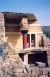 Crete, Greece - Knossos palace (Heraklion prefecture): ruins of the so called customs house (photo by Miguel Torres)
