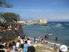 Cuba - Cojimar - Havana province: boat races by the fort and the beach - photo by L.Gewalli