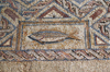 Kourion - Limassol district, Cyprus: fish - mosaic in the baths - complex of Eustolios - photo by A.Ferrari