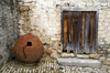 Lofou - Limassol district, Cyprus: old pot and old door - photo by A.Ferrari