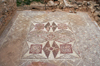 Paphos, Cyprus: outdoor Roman mosaic - geometrical motives - photo by A.Ferrari
