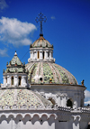 Quito, Ecuador: tiled domes of the Iglesia de la Compañia, seen from Plaza San Francisco - photo by M.Torres