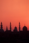 Africa - Egypt - Cairo: skyline - domes and minarets - dusk - photo by J.Wreford