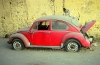 Egypt - Cairo: forgotten car - rusting VW beatle  (photo by J.Kaman)