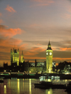 London, England: Big Ben, Westminster Palace and the Thames at dusk - photo by A.Bartel