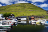 Vestmanna, Streymoy island, Faroes: the harbour is at the end on a sheltered inlet - photo by A.Ferrari