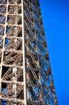Paris, France: Eiffel Tower / Tour Eiffel - detail of the iron lattice in the upper part of the tower, third platform, surrounding stairs and lifts - at 279 m the highest accessible to public in the European Union - Champ de Mars, 7e arrondissement - photo by M.Torres