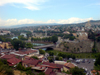 Georgia - Tbilisi: view from Narikala fortress - the city and the Mtkvari river - photo by N.Mahmudova