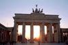 Germany / Deutschland - Berlin: Brandenburg gate - Pariser Platz / Brandenburger Tor - sunset - photo by M.Bergsma