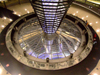Germany / Deutschland - Berlin: the Reichstag - in the dome looking at the plenary hall - parliament - photo by M.Bergsma