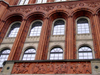 Germany / Deutschland - Berlin: Rote Rathaus - façade detail - Red Rathaus - photo by M.Bergsma