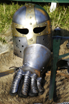 Germany - Berlin: armour of an hobby knight - photo by W.Schmidt