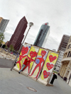 Germany / Deutschland - Berlin: a souvenir of the wall - Potsdammer Platz - eine Andenken der Wand - photo by M.Bergsma