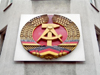Germany / Deutschland - Berlin: Checkpoint Charlie - GDR / DDR coat of arms - photo by M.Bergsma