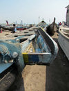 Accra, Ghana: Jamestown district - fishing boats on the beach - photo by G.Frysinger