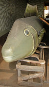 Accra, Ghana: fish shaped coffin for a fisherman - Ghanian casket makers - photo by G.Frysinger