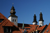 Gotland - Visby: roof and towers of Sankta Maria Cathedral - photo by A.Ferrari