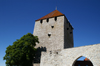 Gotland - Visby: the Gunpowder Tower on the western wall surrounding old Visby - ringwall - UNESCO World Heritage Site - Ringmuren - Kruttornet - photo by A.Ferrari