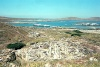 Greek islands - Delos / Dilos: House of Inopos, the two storied House of Hermes and the Temple of Aphrodite in the far distance (photo by B.CLoutier)