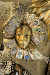 Greece, Dodecanese Islands,Rhodes: ornate mask ornament in shop in Old Town - photo by P.Hellander