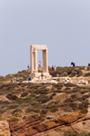 Greece - Naxos Island: the Portara gateway at the unfinsihed temple of Apollo - photo by D.Smith