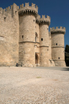 Greece - Rhodes island - Rhodes city - Grand Masters Palace - main gate - photo by A.Dnieprowsky