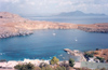 Greek islands - Rhodes - Lindos: protected harbour (photo by Aurora Baptista)
