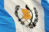 Ciudad de Guatemala / Guatemala city: Guatemalan flag at Parque Central - Resplendent Quetzal, a bird that symbolizes liberty and 15 September 1821, the date of Central America's independence - photo by M.Torres
