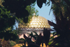 India - Auroville (Tamil Nadu): a golden dome in the jungle -