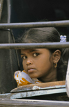 South India: teenage girl - photo by W.Allgöwer