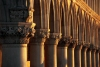 Italy / Italia - Venice: Doge's Palace - Palazzo Ducalle - columns at sunrise (photo by M.Gunselman)