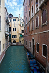 From iron-railed Ponte spanning Rio del Vin, Venice - photo by A.Beaton